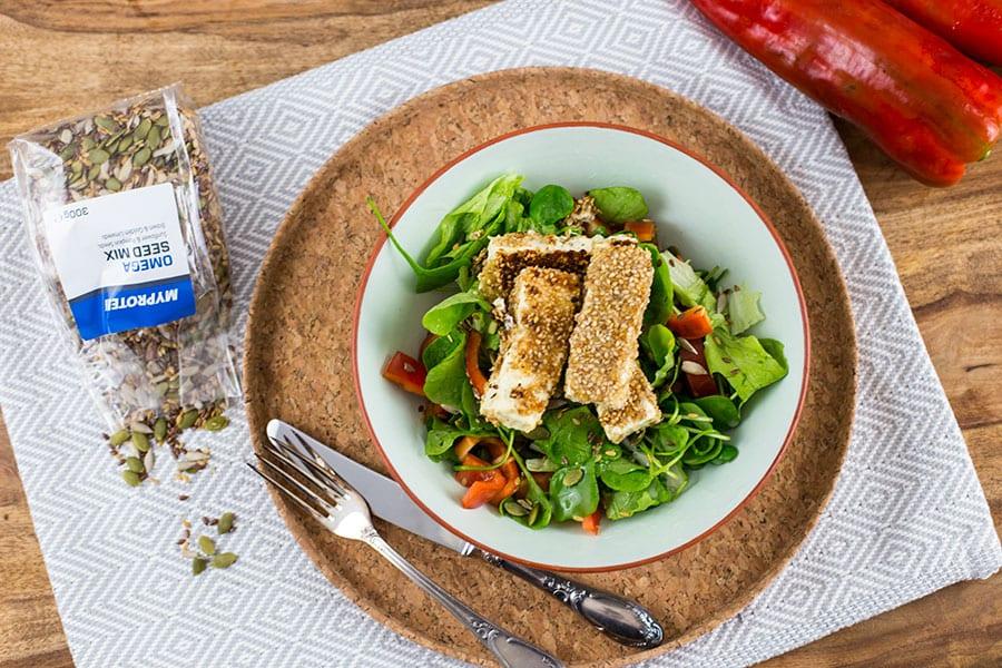 Gebackene Fetastreifen in Sesam-Mehl Kruste | Hauptmahlzeit