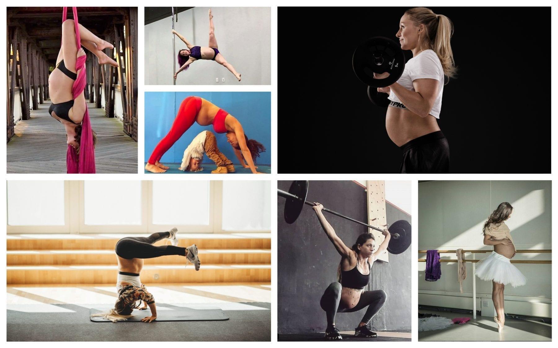 Collage Sport in der Schwangerschaft