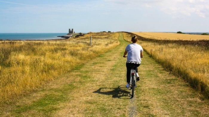 Fahrrad Fahren und abnehmen