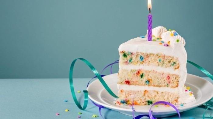 Ultimativer Funfetti Protein Geburtstagskuchen