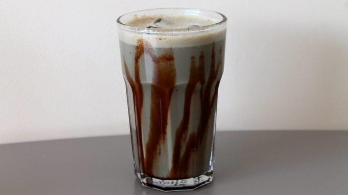 Leckerer Lakritz Protein Eiskaffee