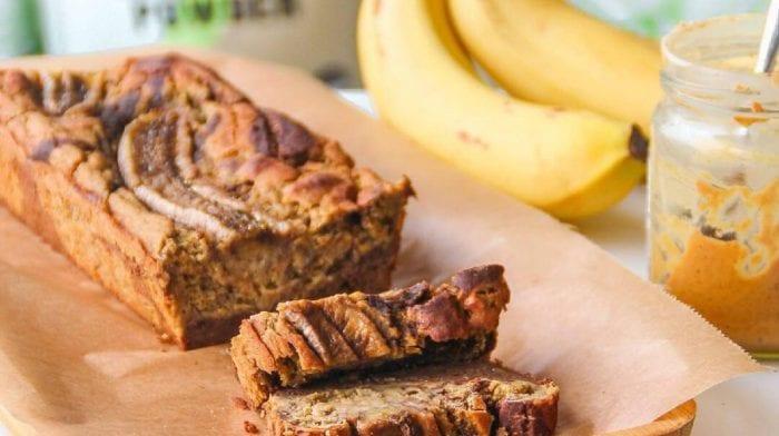 Schmackhafter Bananen Marmorkuchen