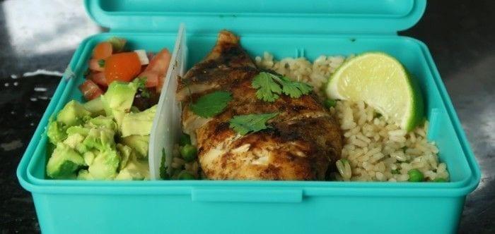 Jerk Chicken Meal Prep Box | Hähnchen auf jamaikanische Art