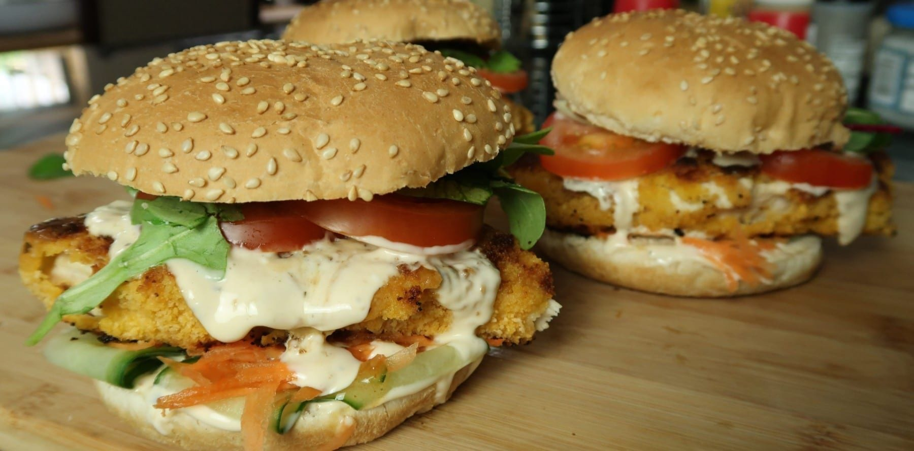 Crispy Sweet Chilli Chicken Burger