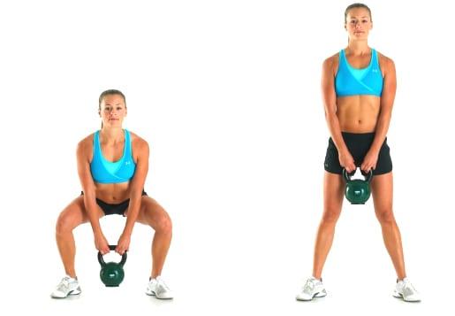 ejercicios con kettlebells rusas