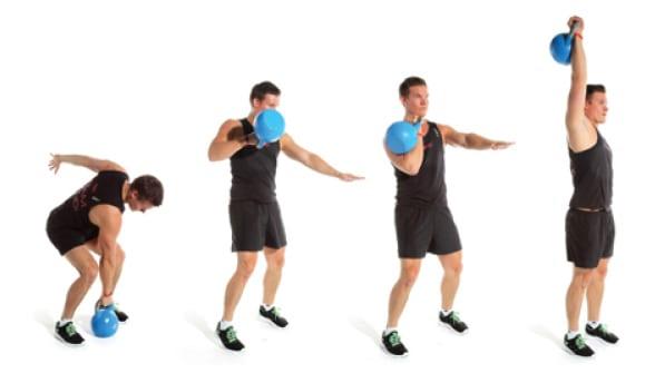 ejercicios con kettlebells o pesas rusas