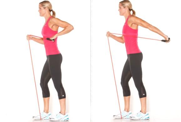 ejercicio para tríceps con bandas