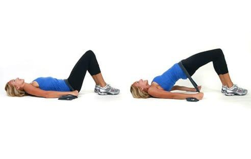 ejercicios para tonificar glúteos con banda elástica