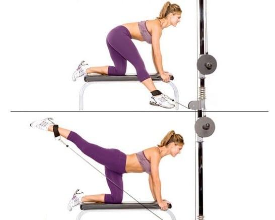 ejercicios para tonificar glúteos y pierna