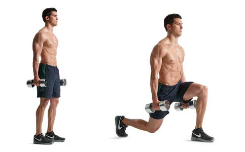 mejores ejercicios para cuádriceps zancadas