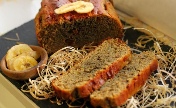 Pan proteico de plátano