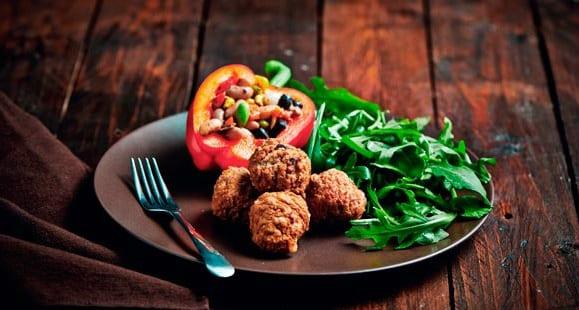 Comidas saludables | Pimientos Rellenos con alubias y frijoles