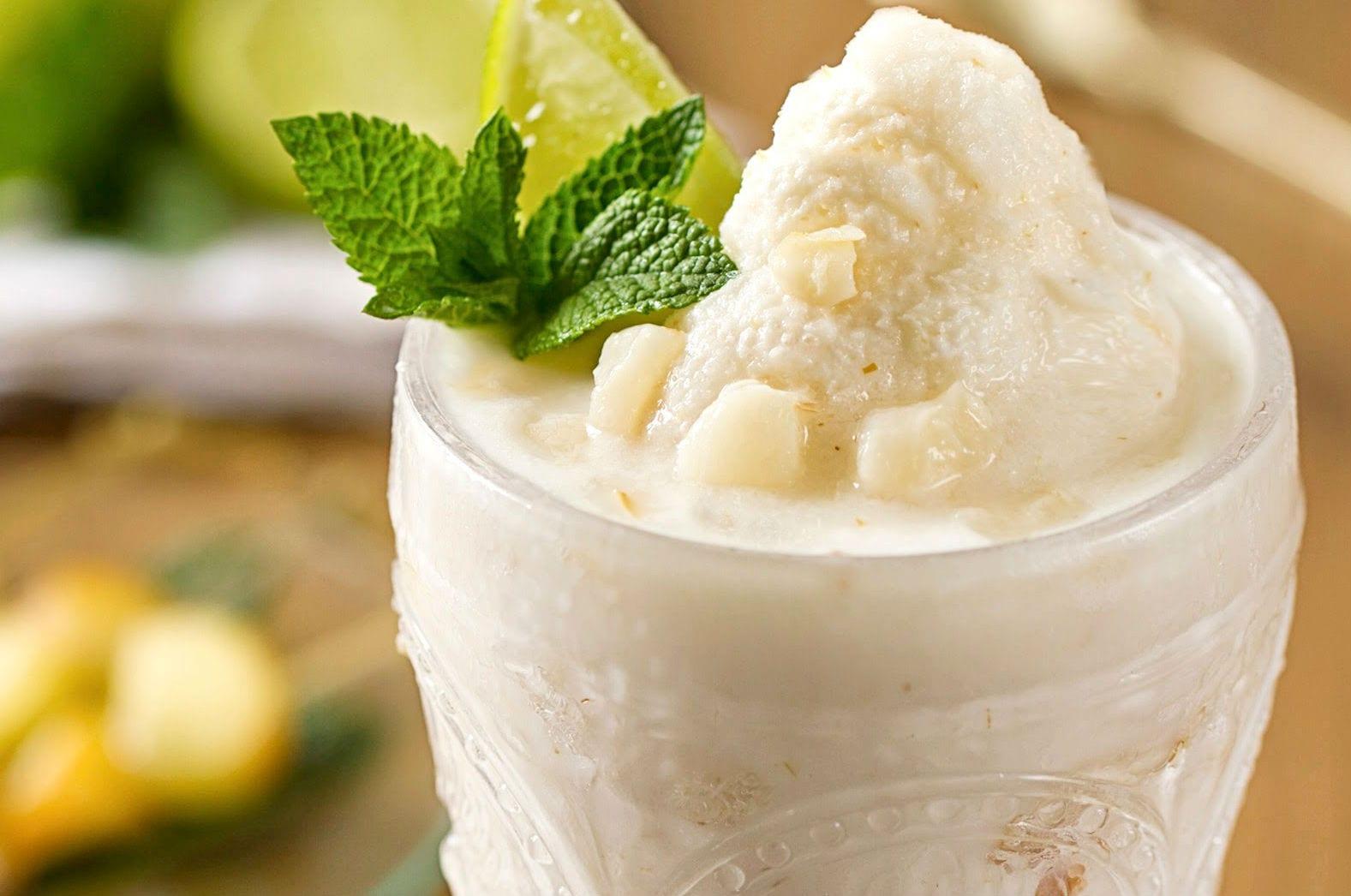 batido con leche de coco