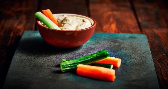 Snacks saludables | Hummus casero bajo en grasa