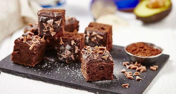 Brownies Veganos con Aguacate y Mantequilla de Cacahuete