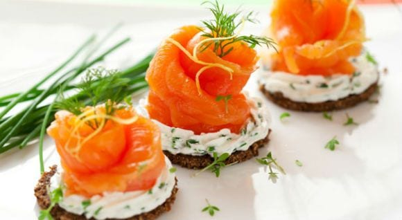 salmon con quesocrema