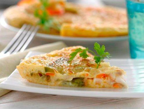 Tortilla de quinoa con verdura