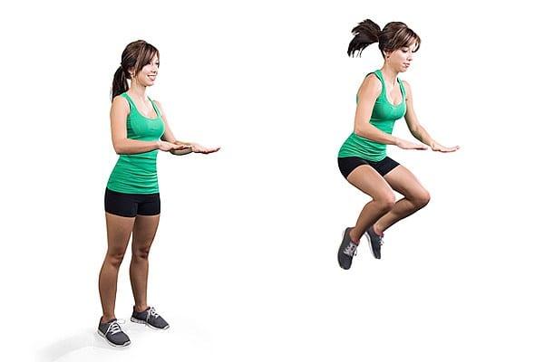 saltos con rodillas