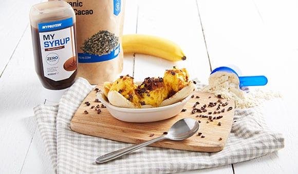 Postres para el Verano | Banana Split Proteico