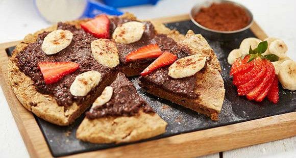 Postres sin gluten o lactosa | Receta de pizza con chocolate