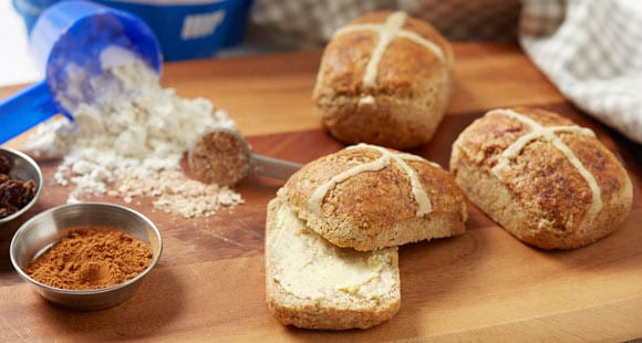 Bollos de pan veganos sin gluten