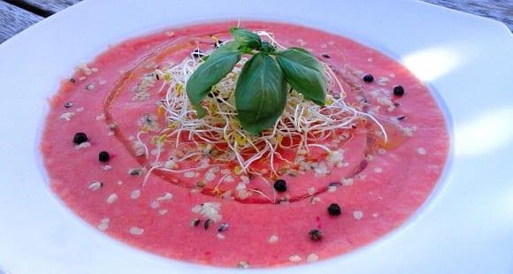 Sopa de Tomate Casera Baja en Calorías