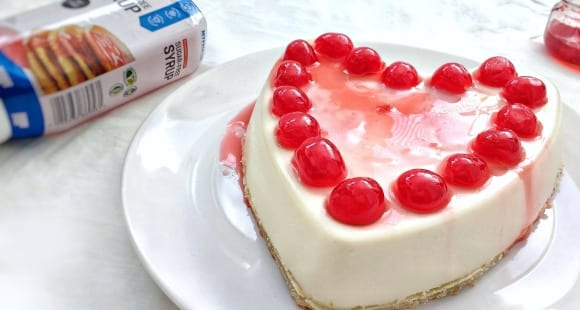 Receta fácil de San Valentín l Tarta de queso light