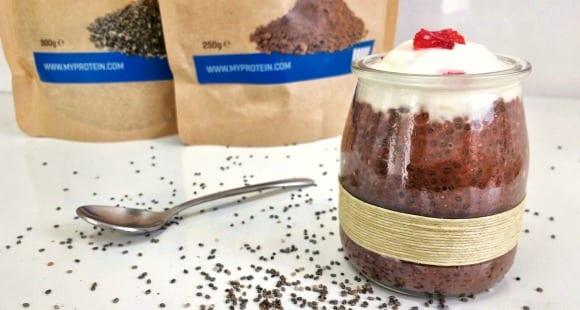 Pudin de Chía y Chocolate con Yogur