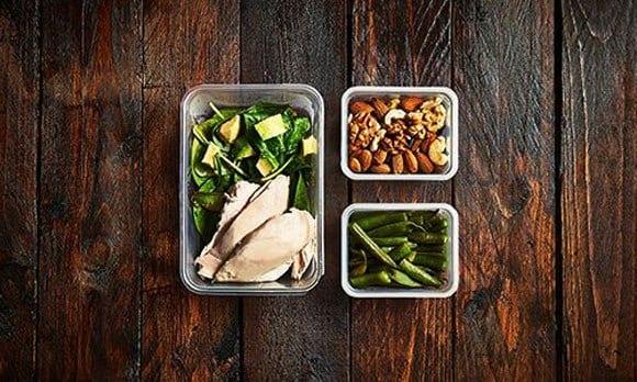 comidas de un plan de dieta
