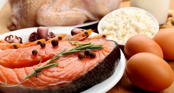 alimentos en un plan de dieta