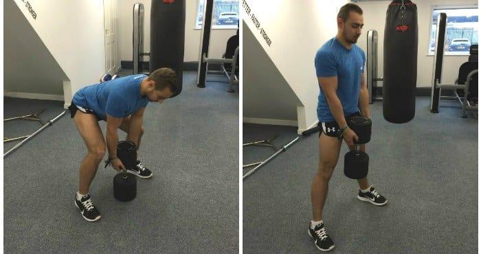 peso muerto para entrenamiento de pierna