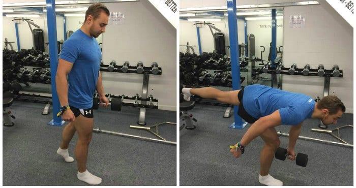 peso muerto rumano para entrenamiento de pierna