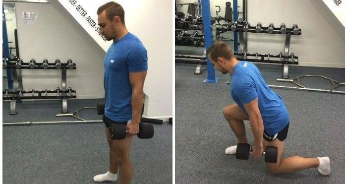 zancadas para tu entrenamiento de pierna