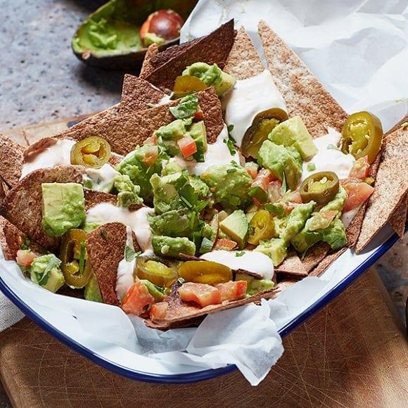 nachos al horno proteicos