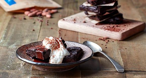 Brownies de Caramelo y Aguacate | Receta Saludable