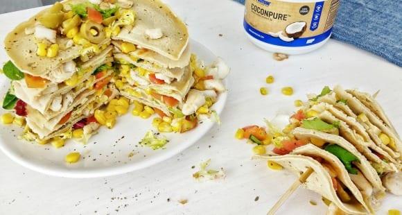 Torre de Crepes Salados | Receta Saludable