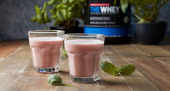 Proteína Thewhey | Batido post entreno de fresa y menta