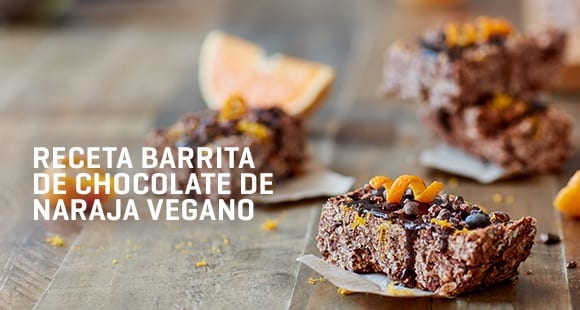 Barritas de Proteínas Veganas | Chocolate con Naranja