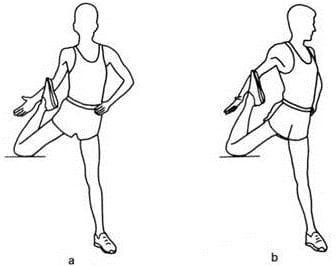 rodilla elevada para estirar el psoas