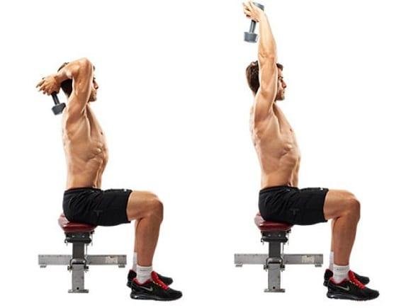 ejercicios para tríceps - extensión tras nuca