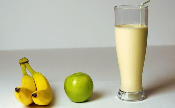 batido de plátano y miel