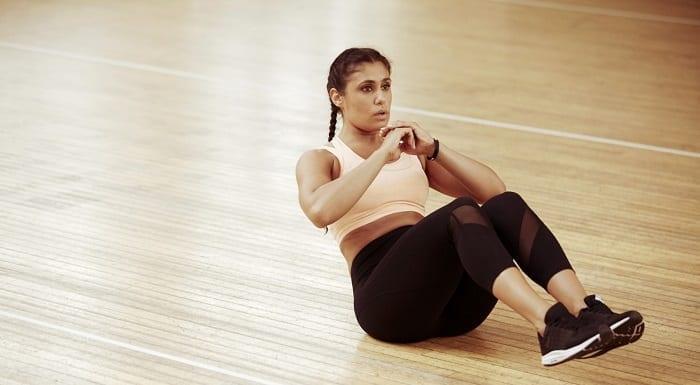ejercicios en pareja abdominales