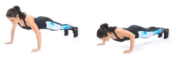 las flexiones son ejercicios de tonificación