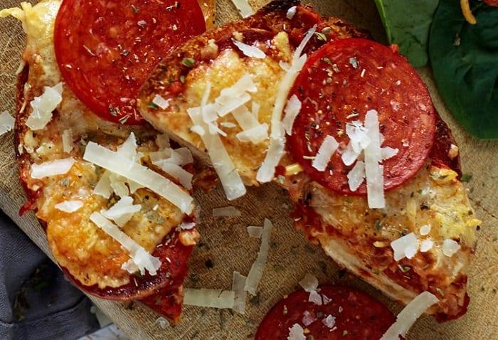 pizza bagel pepperoni
