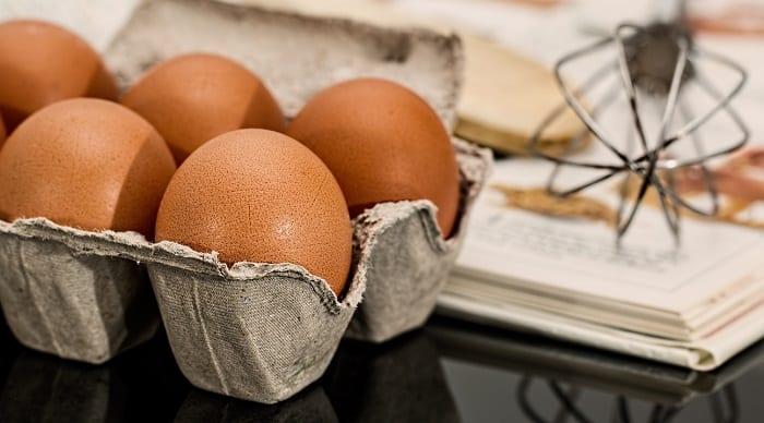 Ejemplo de menú de dieta del huevo