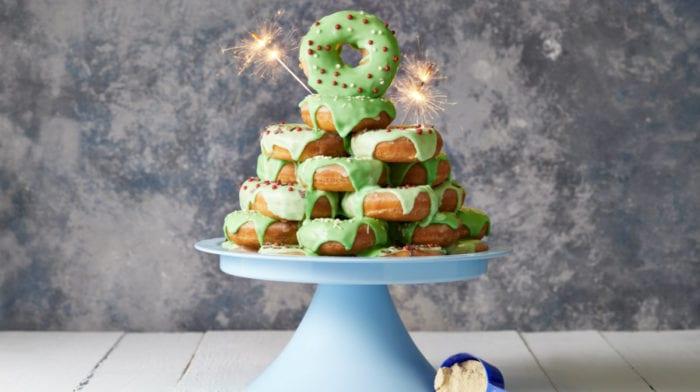Receta de Donuts Proteicos | Árbol de Navidad