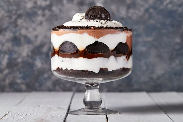 Trifle de chocolate saludable