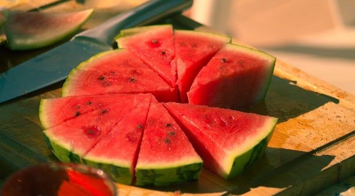 frutas con menos calorías sandía