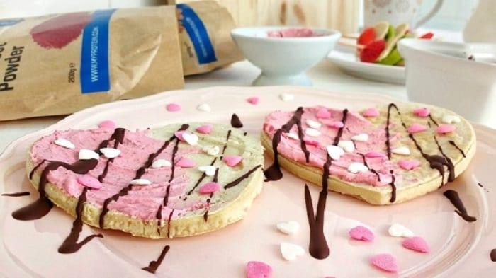 tortitas proteicas de san valentín