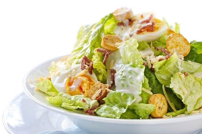 tipos de ensaladas - ensalada cesar